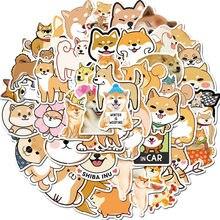 50 unidades/pacote cão bonito shiba inu adesivos para computador portátil telefone scrapbooking ofício diário álbum etiqueta de papelaria decorativa adesivo decalque