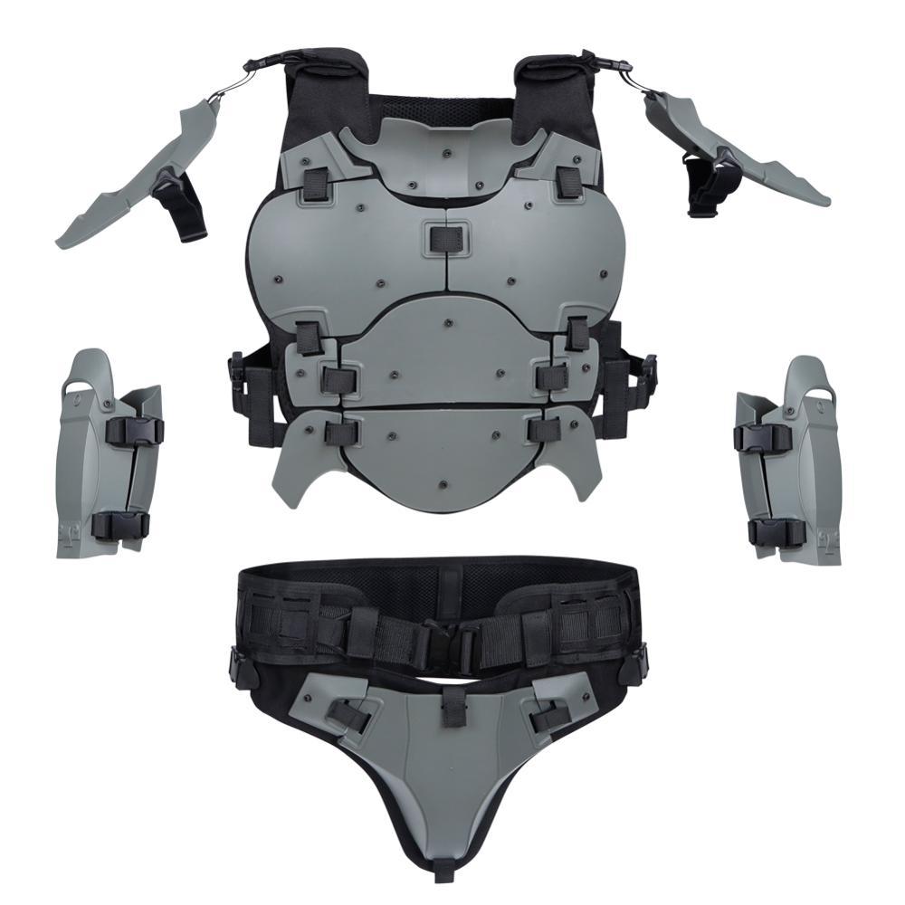 Image 4 - 戦術的な軽量軍鎧ギアセット屋外多機能調節可能な狩猟肘パッドウエストシールエアガンペイントボール狩猟ベスト   -