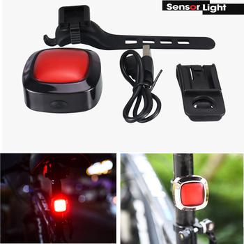 Czujniki hamowania rowerowe tylne światła światło rowerowe wodoodporne ładowanie USB światła rowerowe tylne światło Led ostrzeżenie o bezpieczeństwie tanie i dobre opinie skywolfeye CN (pochodzenie) Bez regulacji FY320A 100-200 m 5-8 plików cycling 1200 Wysoka średnim niskie Akumulator Latarki