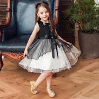 Vestido de princesa de cumpleaños para niñas, ropa para niños de 4, 5, 6, 7, 8, 10 y 11 años, sin mangas, de malla con lentejuelas, 2021