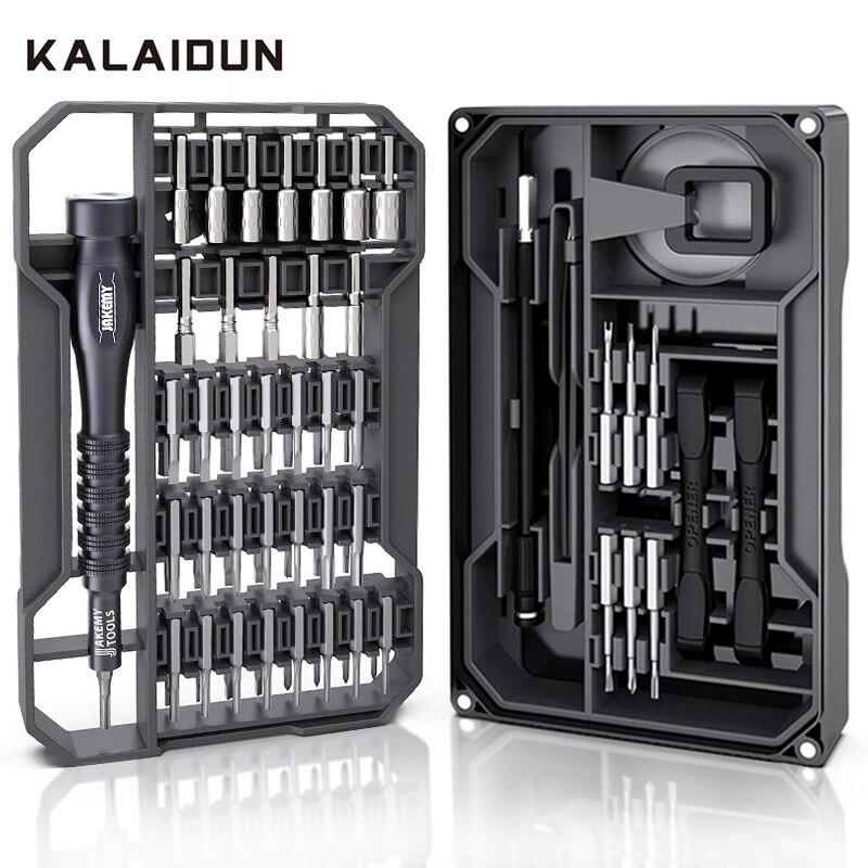 KALAIDUN Precision Screwdriver Set Magnetic Ratchet Screw Driver 73 In 1 Torx Hex Bit Multitools Bits Phone Repair Hand Tool Kit