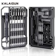 Kalaidun 精密ドライバーセット磁気ラチェットスクリュードライバで 73 1 トルクス六角ビット multitools ビット電話の修理ハンドツールキット