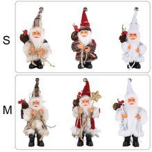Bonito natal papai noel boneca brinquedo árvore de natal ornamentos decoração requintado para casa presente de ano novo 1