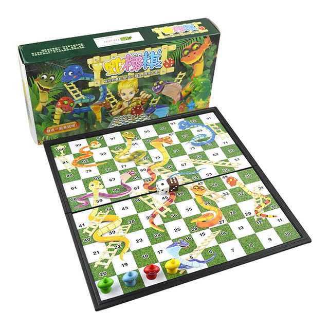 Foldable Magnetic Board Snake & Ladders Chess Game Interactive Desktop Party Toy Interactive Party Games Christmas Board Games 1