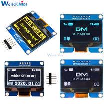 Módulo OLED pm5/7 pines, interfaz IIC I2C, 1,54x64, pantalla de visualización, SSD1309, SPD0301, controlador IC, 128-5V, 3,3 pulgadas, blanco, azul y amarillo