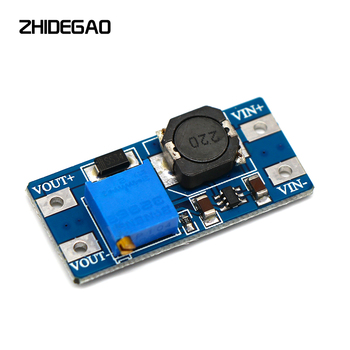 MT3608 DC-DC Adjustable Step Up Converter Booster Power Supply Module Boost Step-Up Board MAX Output 28V 2A for Arduino image