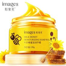 images  Milk Honey Paraffin Wax Hand Mask Care Moisturizing Whitening Skin Exfoliating Calluses Film Cream