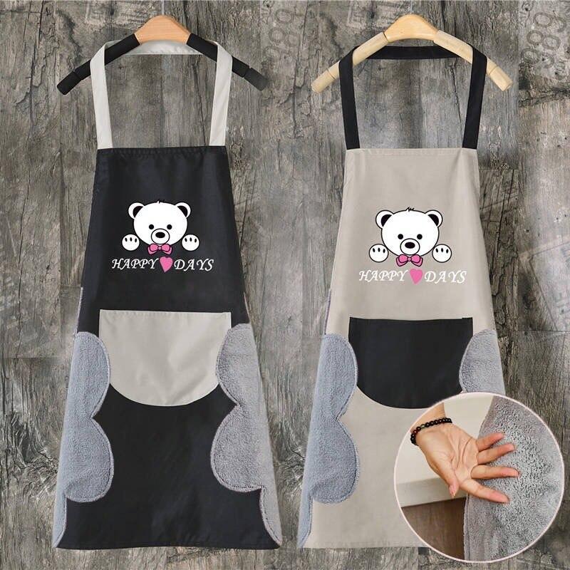 Erase Hand Apron Delantales De Cocina Para Mujer Kitchen Apron Happy Bear Waterproof Apron Kids