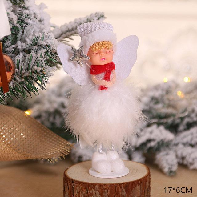 New Year 2020 Cute Santa Claus/Snowman/Angel Christmas Dolls Noel Christmas Tree Decoration for Home Xmas Navidad 2019 Kids Gift 177