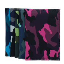 Military Passport Holder Leather Women Camouflage Cover Wallet Travel Men Bag Credit Card