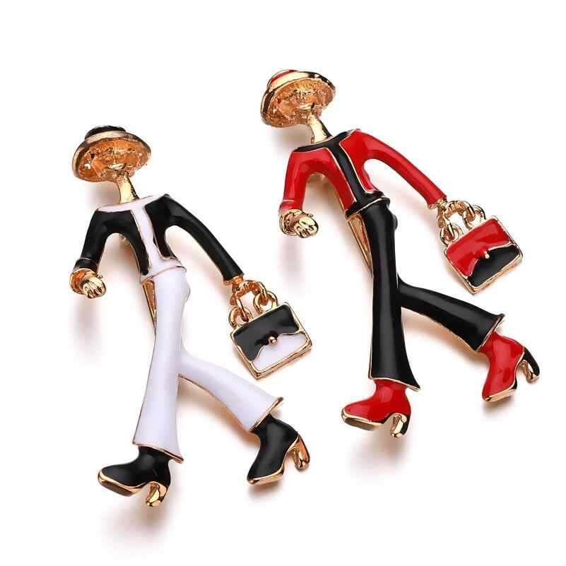 Enamel Cartoon Brooches Pin Alloy Metal Gold Scarf Buckle Corsage Badge Vintage Broaches Jewelry Accessories Fashion Decoration