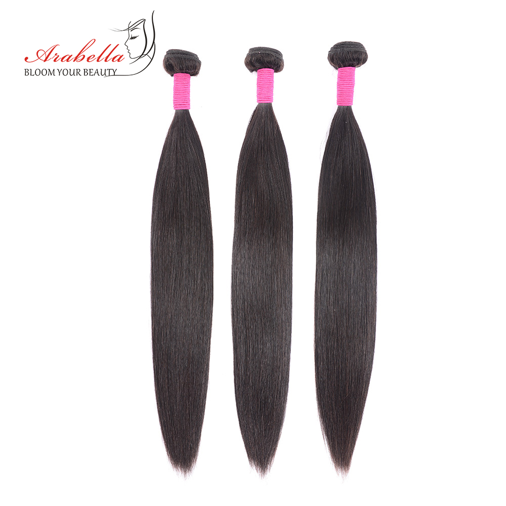 Bundles With Frontal  Straight Hair 100%  Bundles Arabella Pre Plucked Lace Frontal With Bundles 5