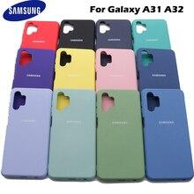 Samsung galaxy a31 a32 caso de silicone líquido macio sedoso escudo capa galaxy a31 a32 de alta qualidade macio toque de volta protetor