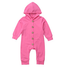 купить Autumn Baby Girl Boy Clothes Newborn Sets Long Sleeve Solid Hooded Jumpsuit Romper Outfits Clothes 9.3 по цене 540.59 рублей