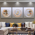 Elk Decorative Painting Modern Minimalist 3D Three-dimensional Background Wall Triple Combination Crystal Porcelain Painting