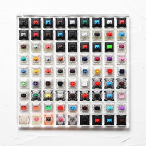 81 switch switches tester with acrylic base blank keycaps for mechanical keyboard cherry kailh gateron outemu ice greetech box(China)