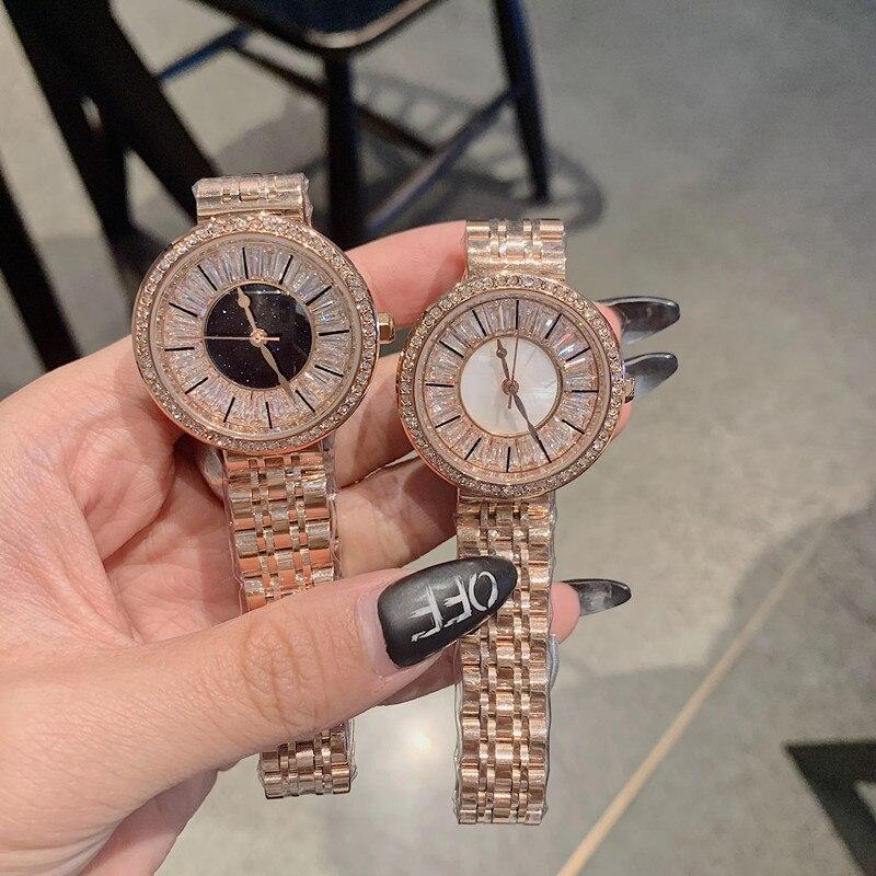 Luxury Full Crystals Zircon Watches for Women Fashion Dress Wristwatch Waterproof Vogue Girls Party Statement Watch Shell Quartz|Women's Watches|Watches - title=