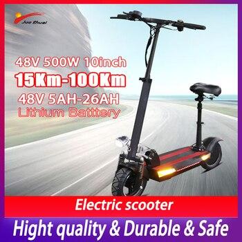 JS-Patinete eléctrico modificado para Adulto, 100km, 48V, 500W, 10 pulgadas, plegable opcional