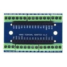 Standard Terminal Adapter Board For Arduino Nano 3.0 V3.0 AVR ATMEGA328P ATMEGA328P-AU Module Expansion Shiled Module nano mini usb with the bootloader compatible nano 3 0 controller ch340 usb driver 16mhz nano v3 0 atmega328p for arduino