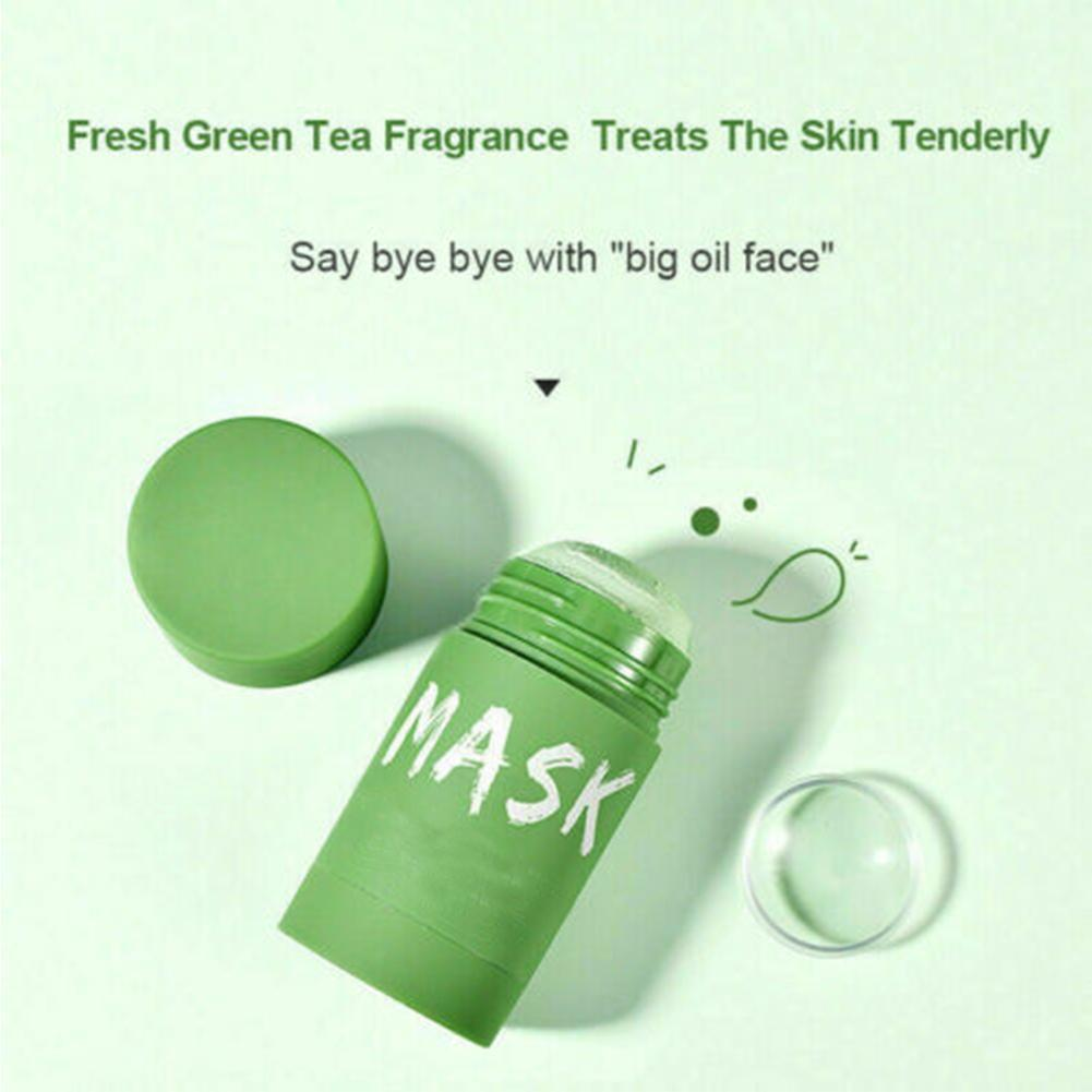 50g Green Tea Cleansing Mask Purifying Clay Stick Mask Oil Face Skin Control Eggplant Anti-Acne Beauty Care Whitening Care Y9U9