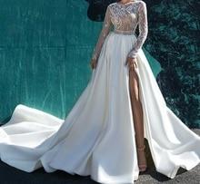 Eslieb custom made import 395 satynowe suknie ślubne