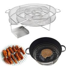 Barbecue-Grill-Chip Smoker Smoking-Box Cold-Smoke-Generator Wood-Dust Apple Steel Fish