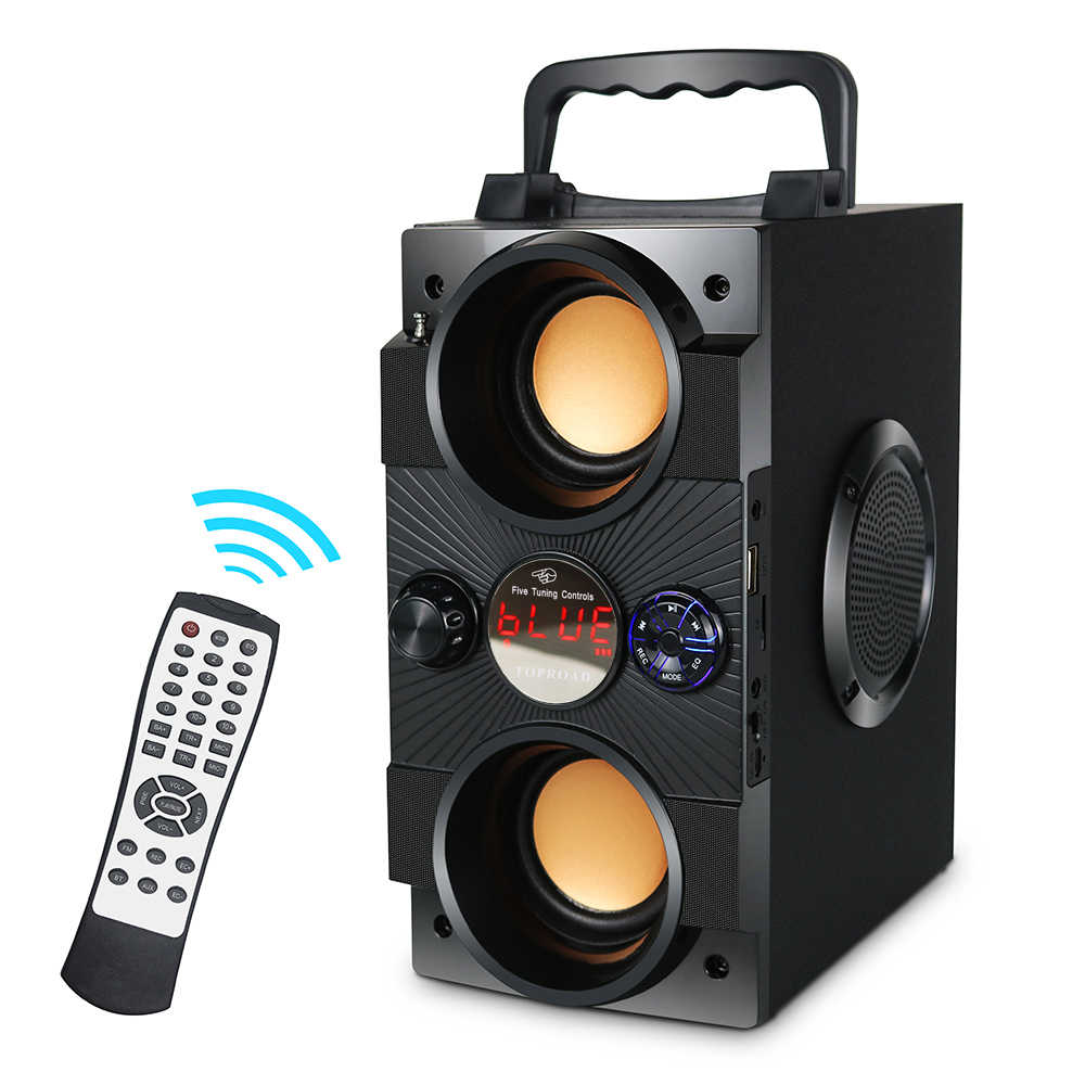 Toproad 30W Bluetooth Speaker Big Power Portable Wireless Stereo Bass Subwoofer Speaker Mendukung Remote Control FM Radio TF AUX