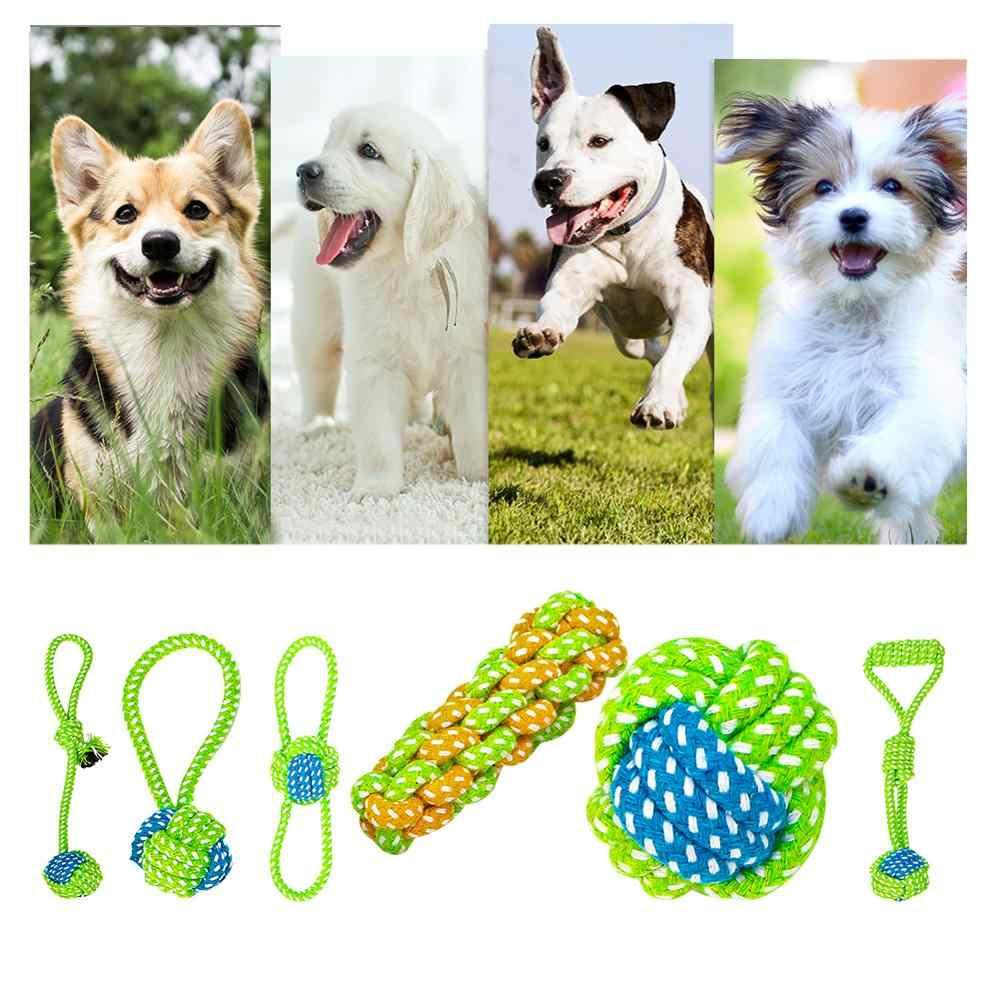 Śmieszne zwierzęta pies kot czyszczenie zębów zabawka gra w piłkę moda śliczne pastelowe lina z bawełny z supłem kości żuć holownik ugryziona zabawka dla zwierzaka