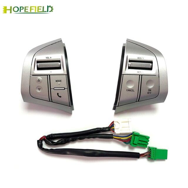 Silver Steering Wheel Button Volume Audio Bluetooth Phone Cruise Control Speed Switch For Isuzu MU X D MAX DMAX MUX Accessories