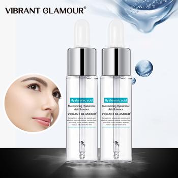 VIBRANT GLAMOUR 2 sztuk kwas hialuronowy Serum do twarzy zmniejszyć pory nawilżający wybielanie istotą trądzik suche szorstki mężczyźni kobiety pielęgnacja skóry tanie i dobre opinie Moisturizing Ciecz Twarzy surowicy Water butanediol soybean amino acid palmitoyl hexapeptide-12trehalos VG-TZ052 CHINA