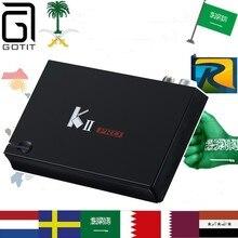 Gotit Royal KII pro tv soporte de caja árabe Europa sueco holandés Alemania África compradores Android TV box sólo no incluye canales