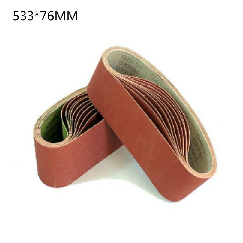 3inch 533*76mm Sandpaper Belt Sand Paper Belt Sanding Pad Sandpaper For Grinder Wheel Belts 60-600mesh 20pcs/lot Free Shipping