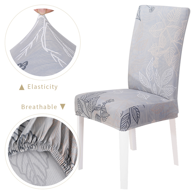1 2 4 6 8pcs Christmas Chair Cover Floral Printed Pattern Elastic Chair Covers Spandex Dining Furniture Slipcover Covers Chair Cover Aliexpress