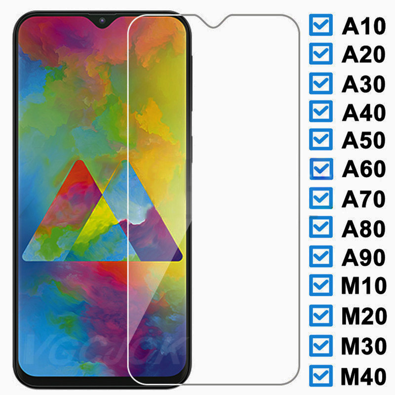 9H Protective <font><b>Glass</b></font> For <font><b>Samsung</b></font> <font><b>Galaxy</b></font> A10 A20 A30 A40 A50 <font><b>A60</b></font> A70 A80 A90 M10 M20 M30 M40 2019 Tempered Screen Protector Film image