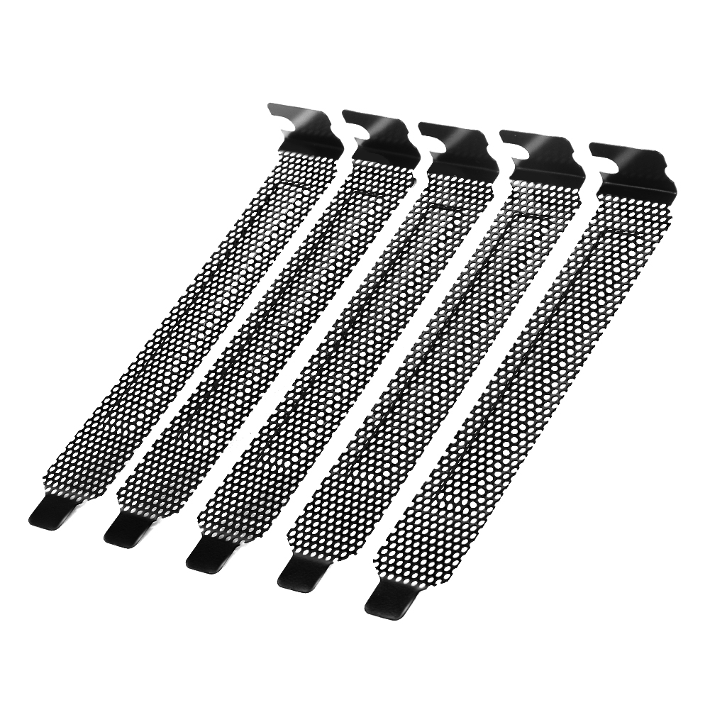 New 5Pcs/lot Black Hard Steel Dust Filter Blanking Plate PCI Slot Cover With Screws 2