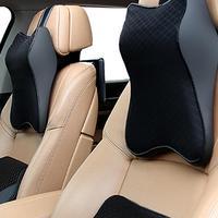 1 pçs carro auto pescoço travesseiro almofada de espuma memória pescoço resto assento encosto de cabeça almofada macia 2 cores alta qualidade carros acessórios