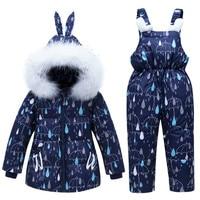 New Baby Girls Boys Winter Coat Snowsuit Duck Down Toddler Girls Winter Outfits Snow Wear Jumpsuit Rain Dot Hoodies Jacket