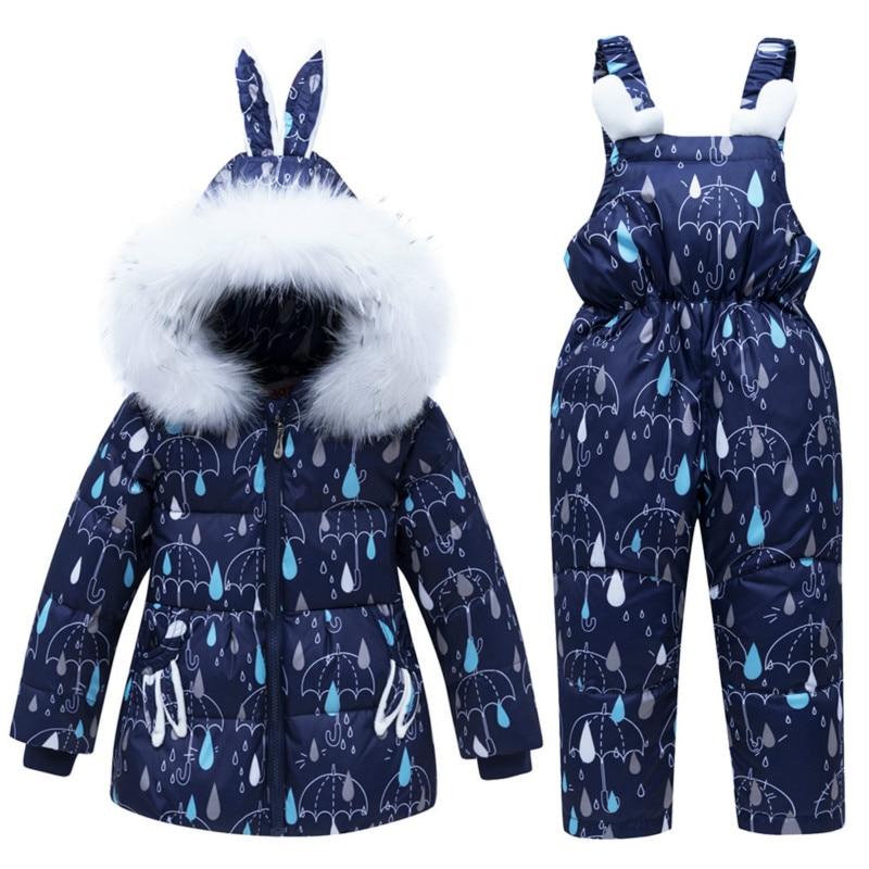Nouveau bébé filles garçons manteau d'hiver Snowsuit canard vers le bas enfant en bas âge filles tenues d'hiver vêtements de neige combinaison pluie Dot sweats à capuche veste
