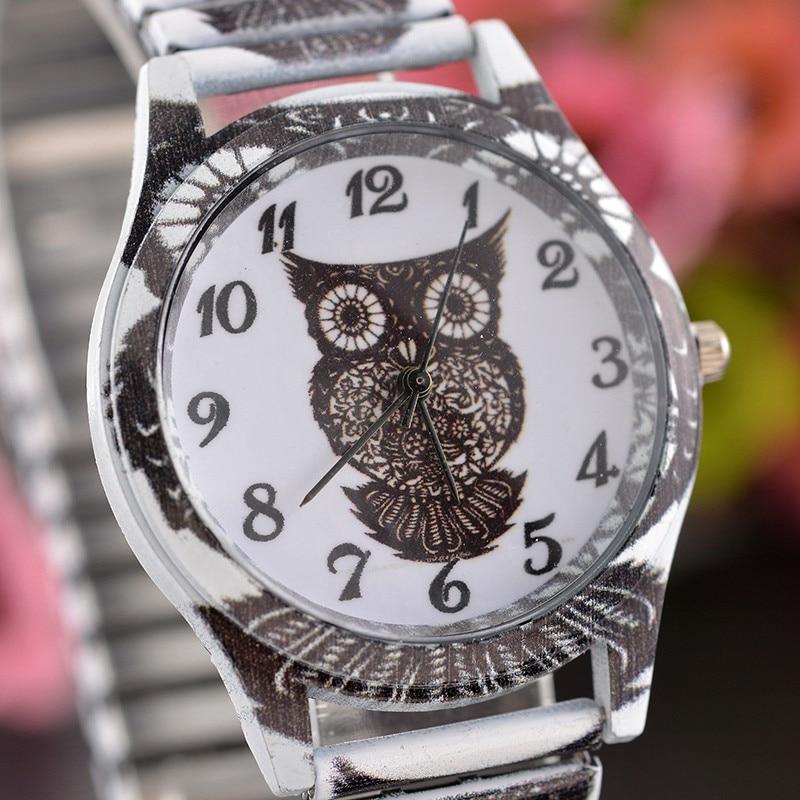 Cartoon Owl Fashion Women Watches Stainless Steel Cute Ladies Clock Casual Quartz Wrist Watches Relogio Feminino Gift Girl