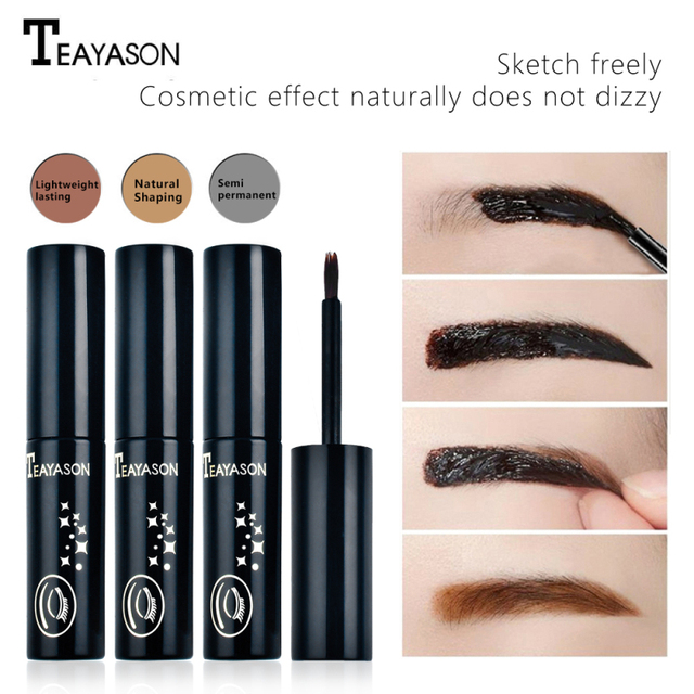 TEAYASON Eyebrow Dye 3 Color Eyebrow Pencil Long Lasting Waterproof Eyebrow Professional Makeup Eyebrow Gel Tattoo Cosmet Beauty