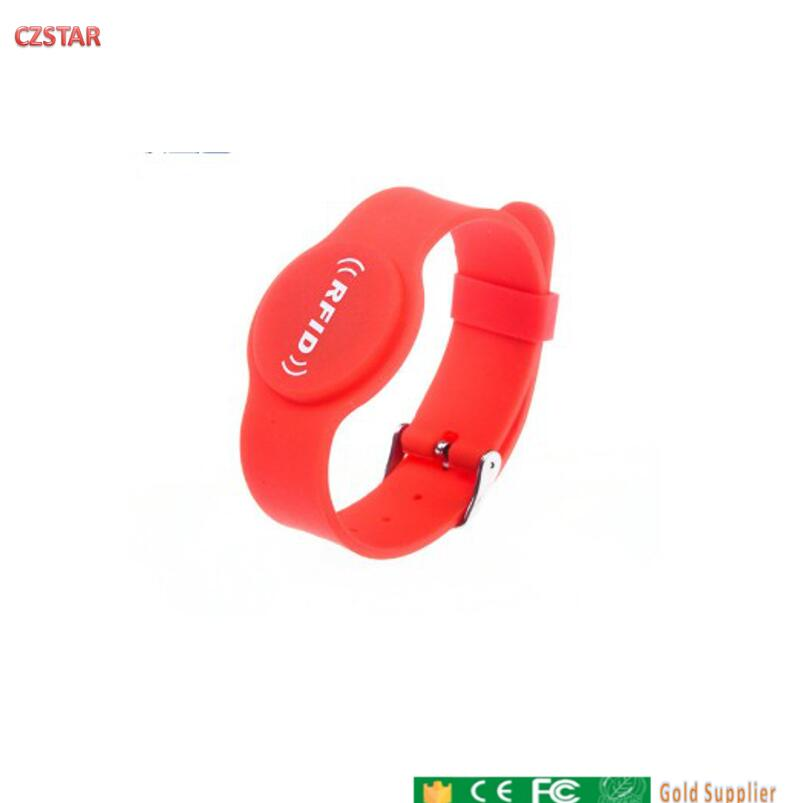 13.56mhz RFID IC Silicone Wristband Adult Children's Amusement Park Watch Card Swimming Pool Gym Adjustable Wrist Strap