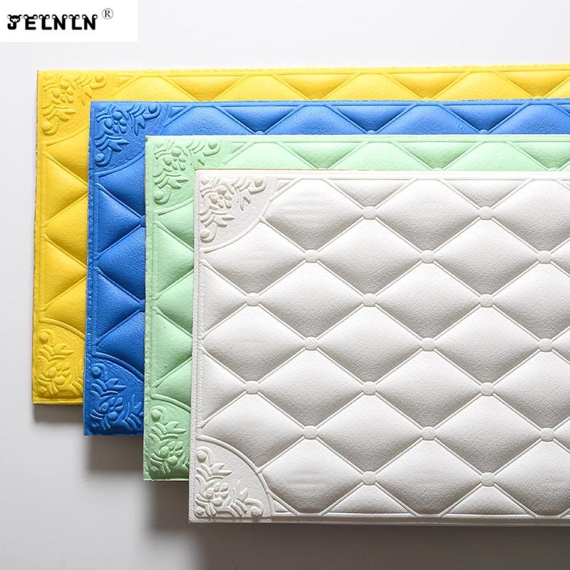 Thick Self-adhesive Headboard Soft Pack Crash Wall Sticker Tatami Soft Pack  Imitation  Pack Bedside Bumper Foam Wall Sticker