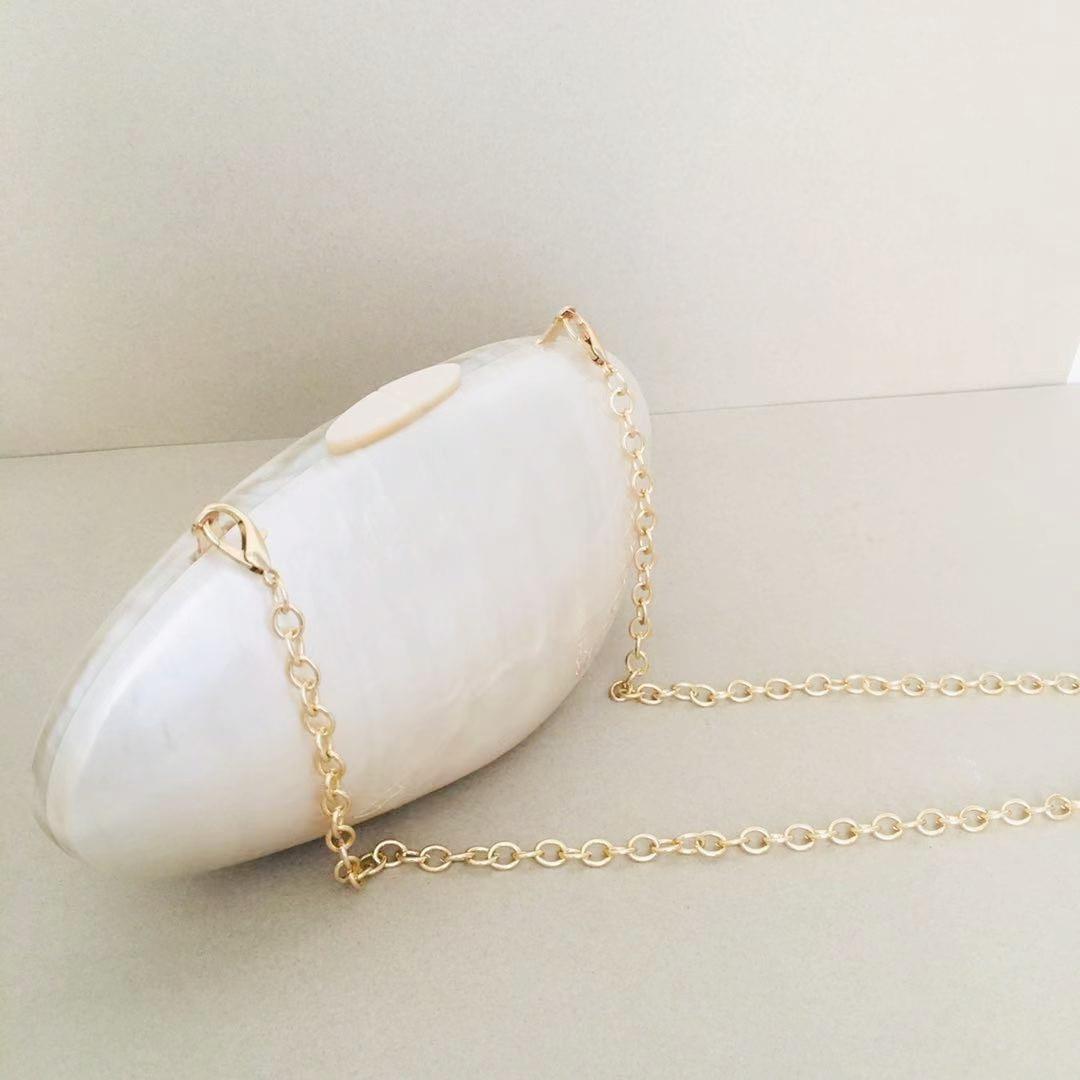 Bag For Women Luxury Acrylic Egg Shaped Handbag Ladies Wedding Bridal Clutch Purse Elegant Cocktail Party Evening Bags-BeeInFly