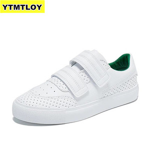Women Sneakers 2019 Caual Shoes Fashion White Sneaker Round Toe Lace-Up Platform Zapatillas Mujer Reflective strip Designer