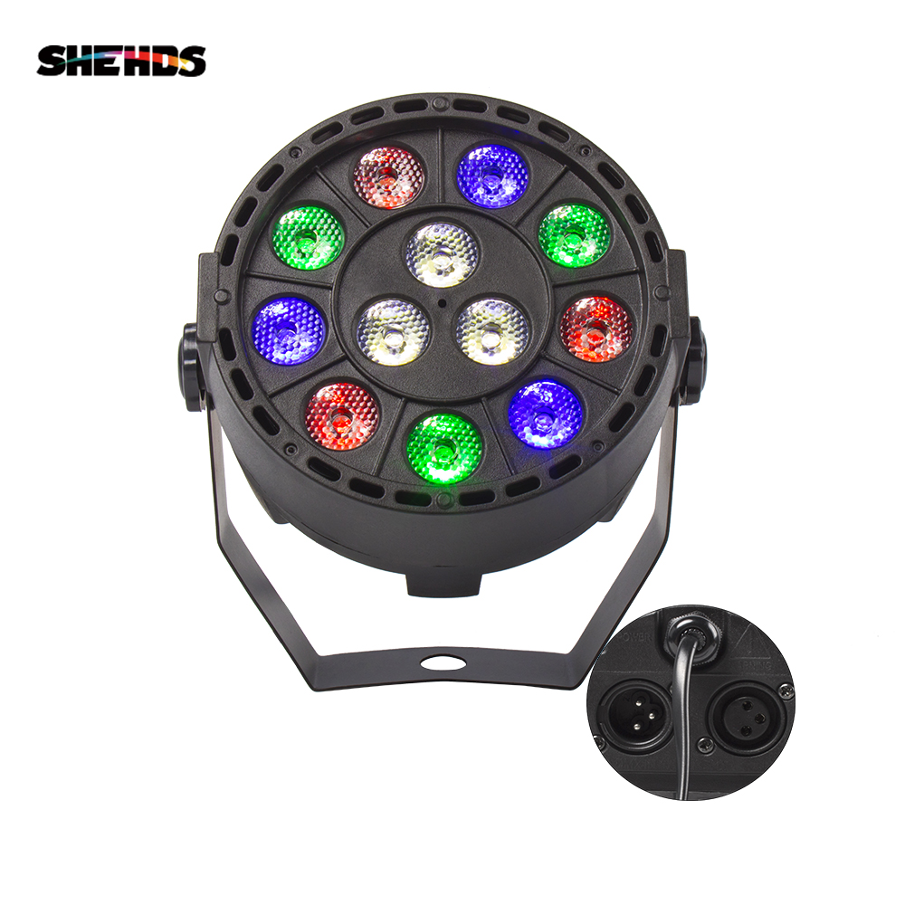 LED Par 12x3W RGBW LED Stage Light Par Light 54x3W DMX512 For Disco DJ Projector Machine Party Decoration SHEHDS Stage Lighting