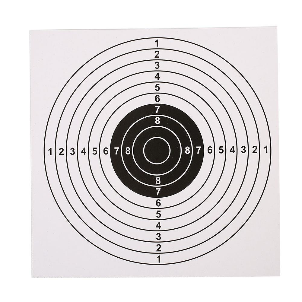 Professional Shooting Target Paper Bow Arrow Gauge Sheet Sheet Sheet 100PCS/Set Archery Targets Accurate Black/White 14X14CM