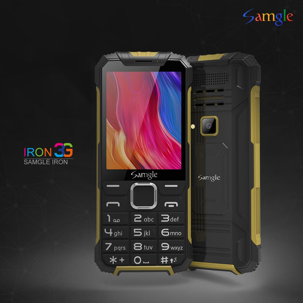 "Samgle 3G WCDMA 2.8"" Display Slim Rugged Feature Phone Speed Dial Super Long Standby Flashlight Whatsapp Senior Mobile Phone"
