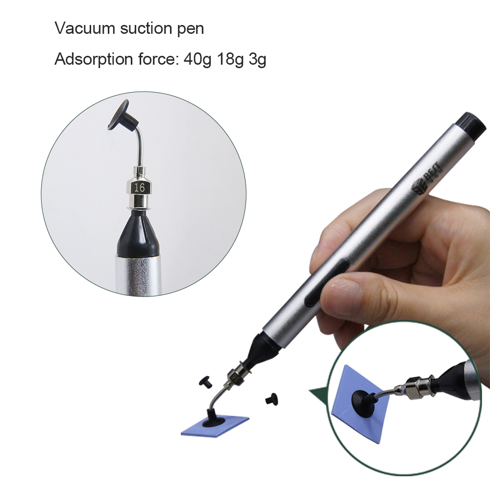 BST-939 Vacuum Suction Pen Tools Header Vacuum Suction Pen Alternative Tweezers Pick Up Tools Mini Vacuum Sucking Pen Repair
