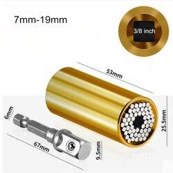 7-19mm uniwersalny klucz dynamometryczny zestaw słuchawkowy sześciokątna tuleja gniazdowa grzechotka klucze nasadowe