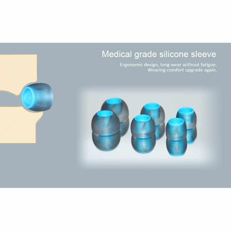 Sẵn Sàng 6 Xoắn Ốc Silicone Eartips Có Tai Nghe Chụp Tai Tay Cho E10 Zsx C12 Zs10 Proclear Silicone Thay Thế Tai Đầu